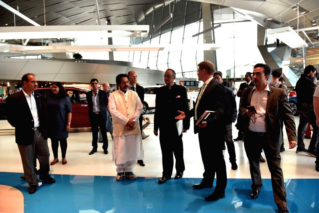 West Bengal Minister Amit Mitra and Trinamool Congress leader Sudip Bandyopadhyay visit BMW plant in Munich, Germany on Sept 6, 2016. - Amit Mitra
