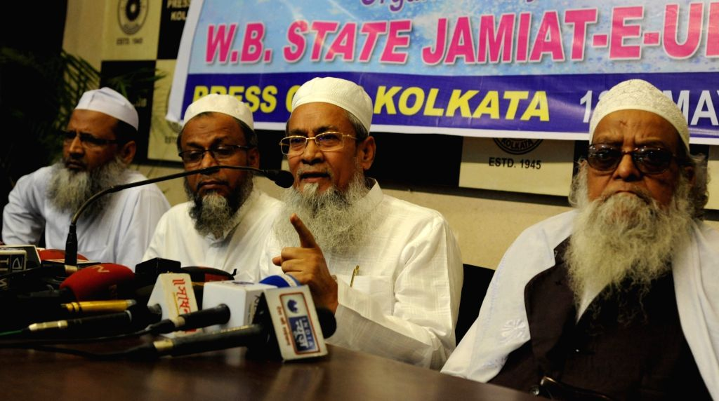 West Bengal Minister and Jamiat-e-Ulema Hind's unit chief Siddiqullah Chowdhury addresses a press conference in Kolkata on May 13, 2017.