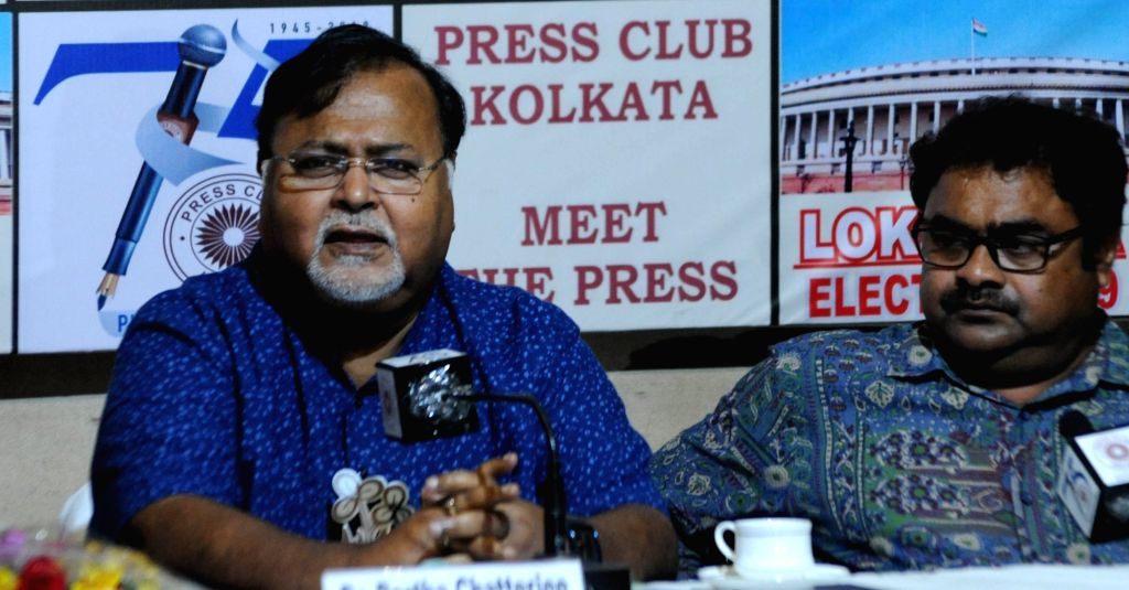 West Bengal Minister and TMC leader Partha Chatterjee addresses during 'Meet the Press' programme in Kolkata, on April 27, 2019. - Partha Chatterjee