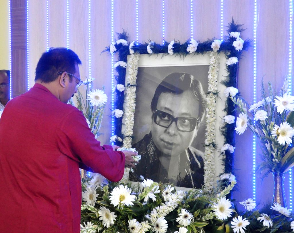 West Bengal Minister Arup Biswas pays homage to late film score composer R. D. Burman at Nabanna in Howrah on June 27, 2017. - Arup Biswas
