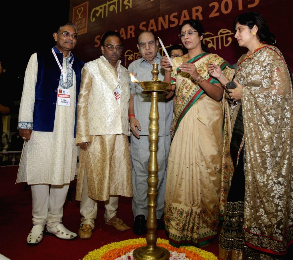 West Bengal Minister Sashi Panja at the inauguration of the 2nd edition of Sonar Sansar in Kolkata, on Dec 4, 2015. - Sashi Panja