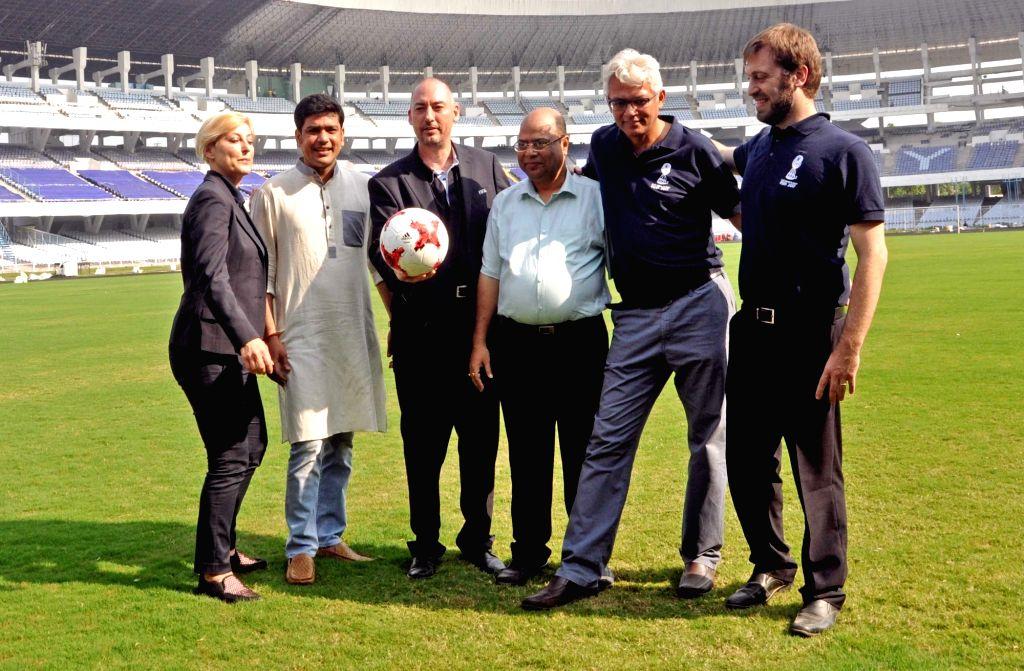 West Bengal Sports Minister Laxmi Ratan, FIFA Head of Tournaments U-17 World Cup Jaime Yarza, FIFA U-17 World Cup India 2017 Tournament Director Javier Ceppi and Project Director Joy ... - Laxmi Ratan