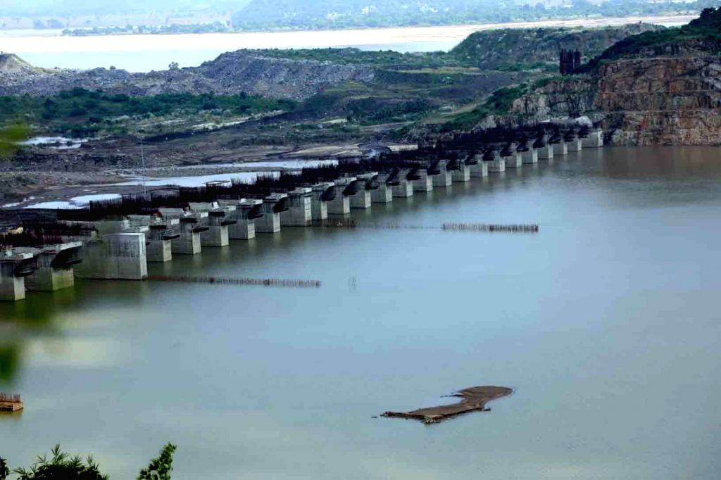 West Godavari: A view of the under-construction multi-purpose irrigation project on the Godavari River in the West Godavari District of Andhra Pradesh on Oct 11, 2019.