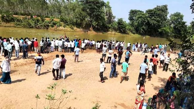 West Godavari: Six students lost their lives when they went for swimming in a stream near Vasantavada village in Velerupadu Mandal of West Godavari district, on Oct 28, 2020. The incident took place ...