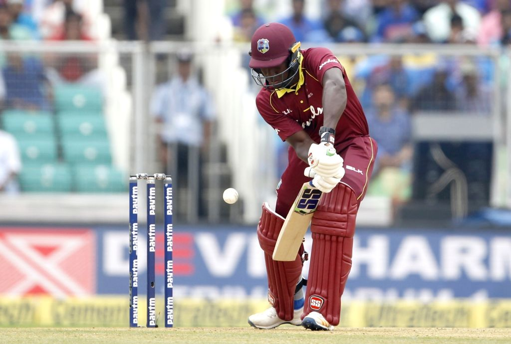 West Indies batsman Rovman Powell in action during the fifth and final One-Day International (ODI) match between India and West indies in Thiruvananthapuram on Nov. 1, 2018. - Rovman Powell