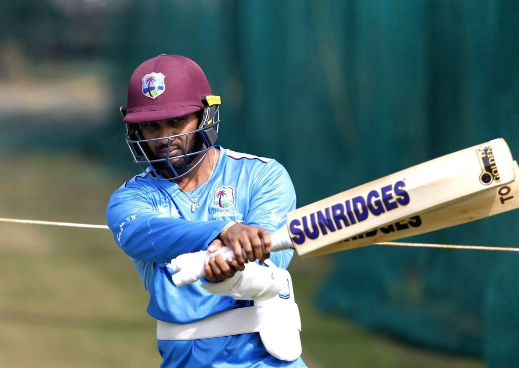 West Indies' Denesh Ramdin during a practice session ahead of the first Twenty20 match against India at Rajiv Gandhi International Cricket Stadium in Hyderabad on Dec 4, 2019.