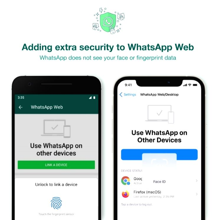 WhatsApp adds additional security layer to link account to PCs.