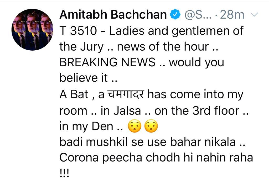 When a bat entered Big B???s house.