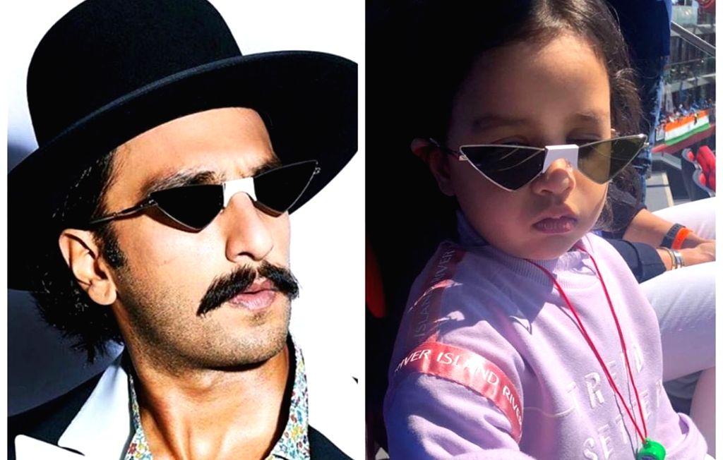 When Dhoni's daughter spotted Ranveer Singh wearing same glasses. - Ranveer Singh