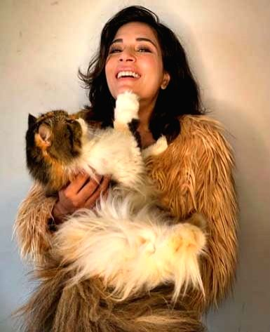 When Richa Chadha was slapped by her cat.