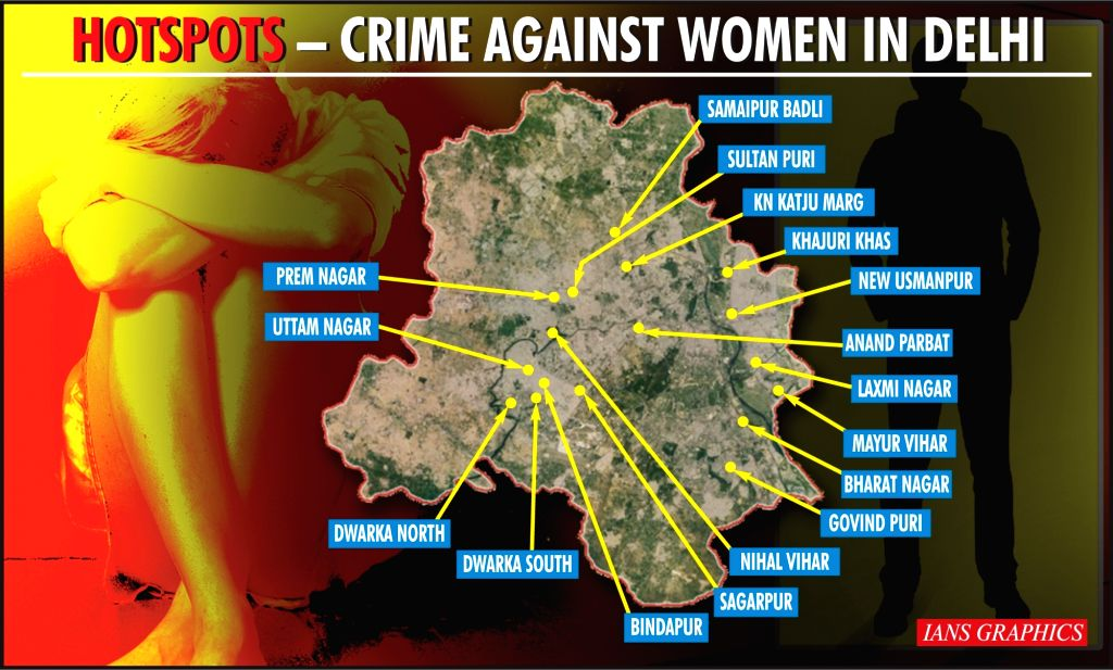 Which are the 17 hotspots vulnerable for women in Delhi (IANS Special) (IANS Infographics)