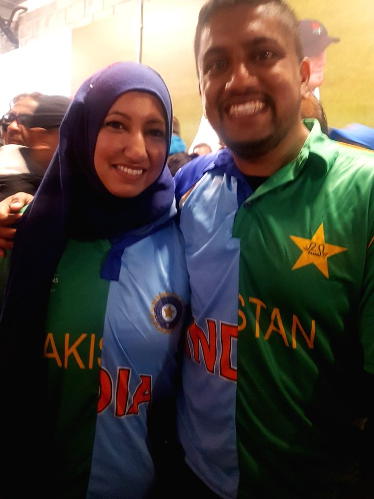 While fans from both the sides cheered for their respective teams during the much anticipated ICC World Cup 2019 India versus Pakistan match in Manchester on Sunday, this image of Canadian couple wearing custom made jerseys of both the teams has gone