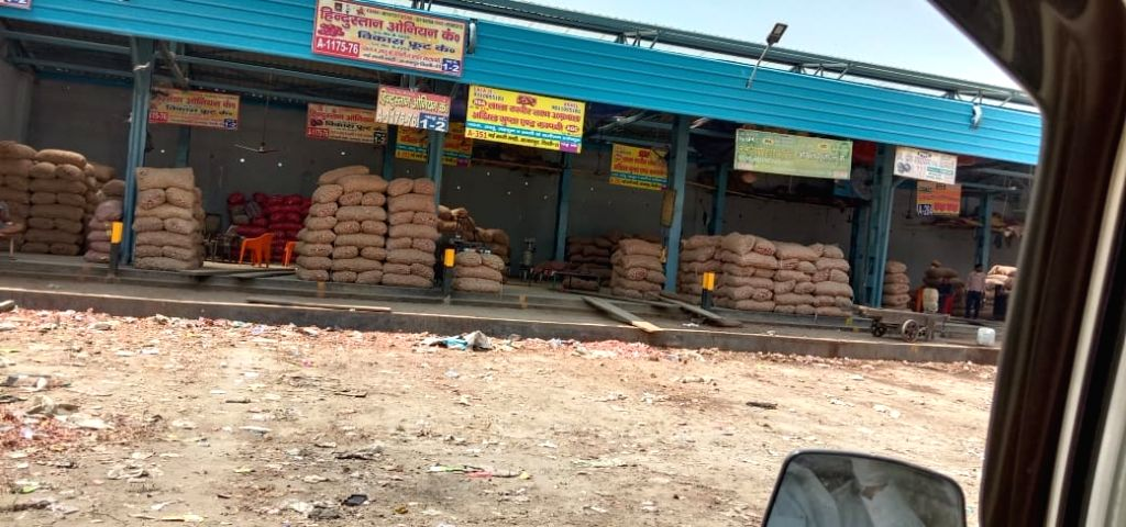 Wholesale fruits and vegetables market during 'Janata Curfew'.