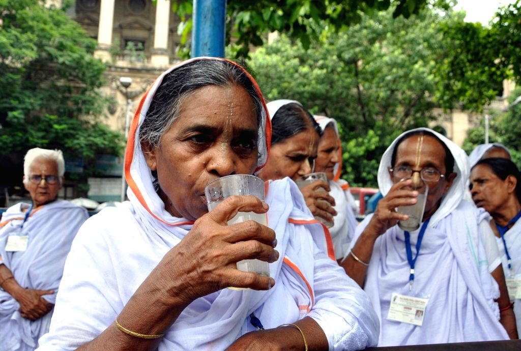 Widows from Vrindavan visit Kolkata on International Widow's Day 2016, on June 23, 2016.