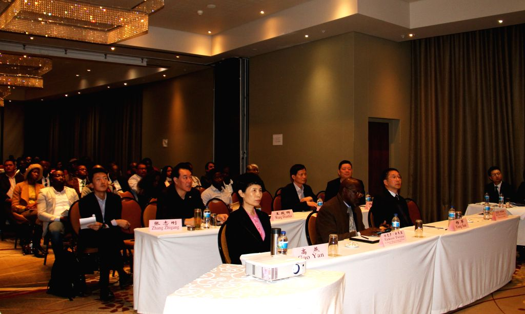 WINDHOEK, July 19, 2019 - Participants attend a seminar on investment opportunities for Chinese Businesses in Namibia, in Windhoek, Namibia, on July 19, 2019. Namibia's Ministry of Industrialization, ...