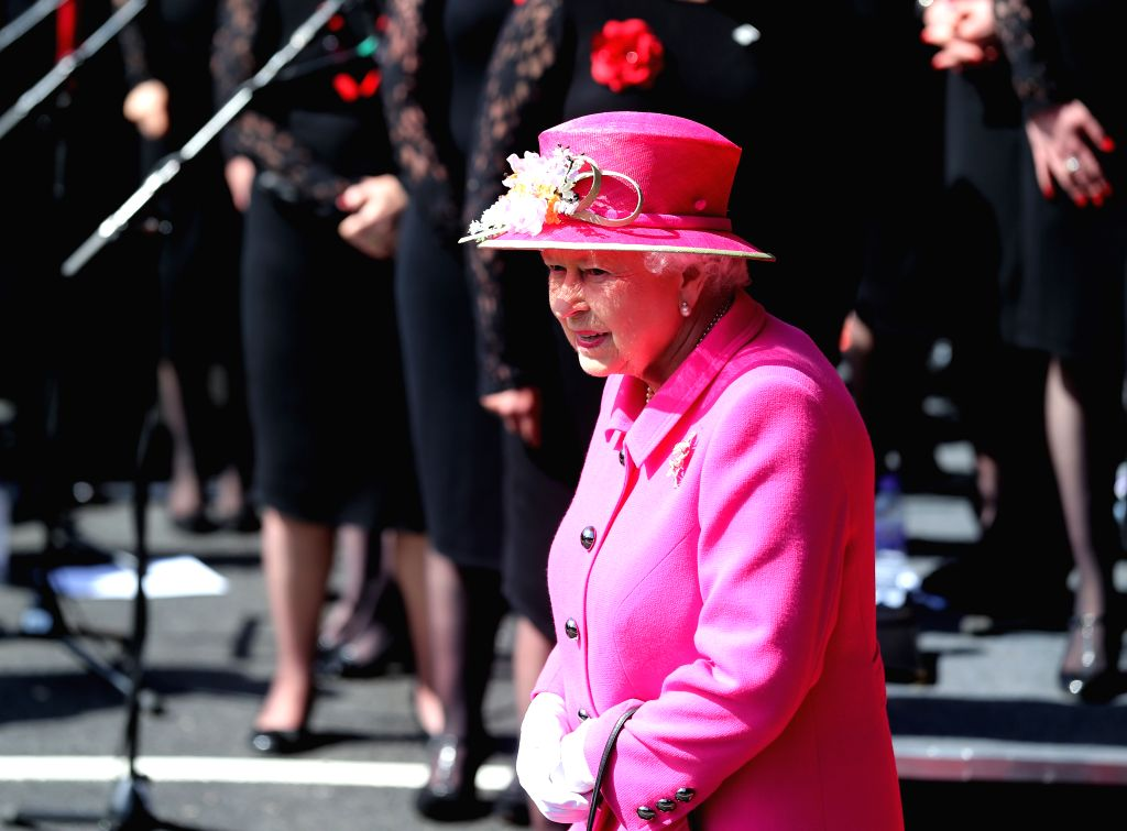 WINDSOR, April 20, 2016 - Queen Elizabeth II attends a celebration to mark the 500th anniversary of the Royal Mail postal service at the Royal Mail Delivery Office in Windsor, western London, ...