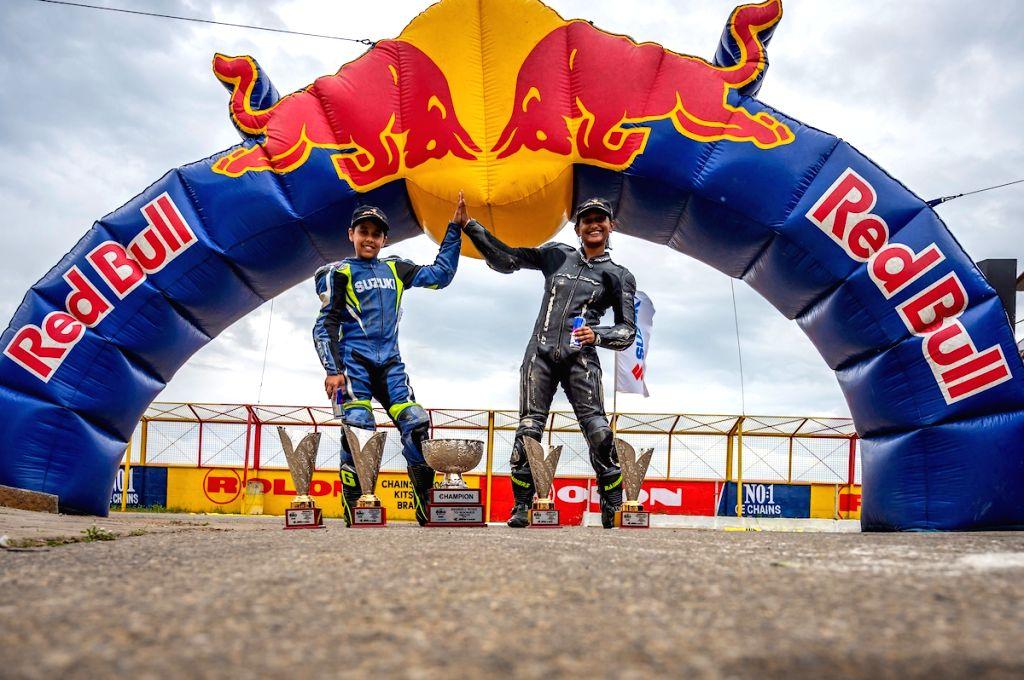 Winners of the Red Bull Road to Rookies Cup - Ikshan Shanbag from Satara and Aditi Krishnan from Bangalore.