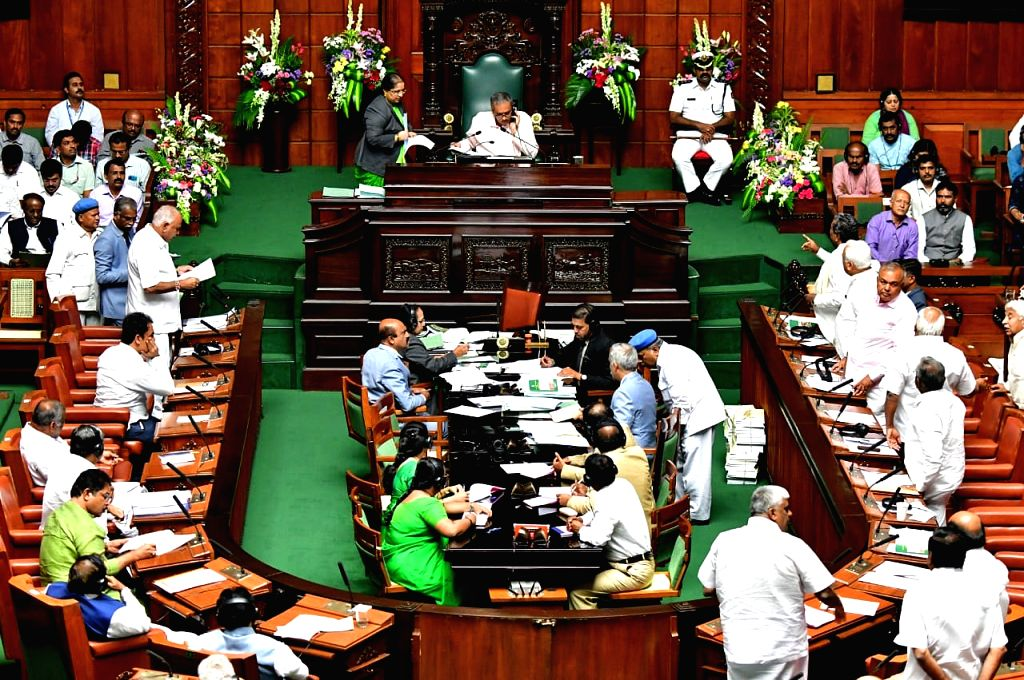 Winter Session of the Karnataka Assembly underway, in Bengaluru on Oct 10, 2019.