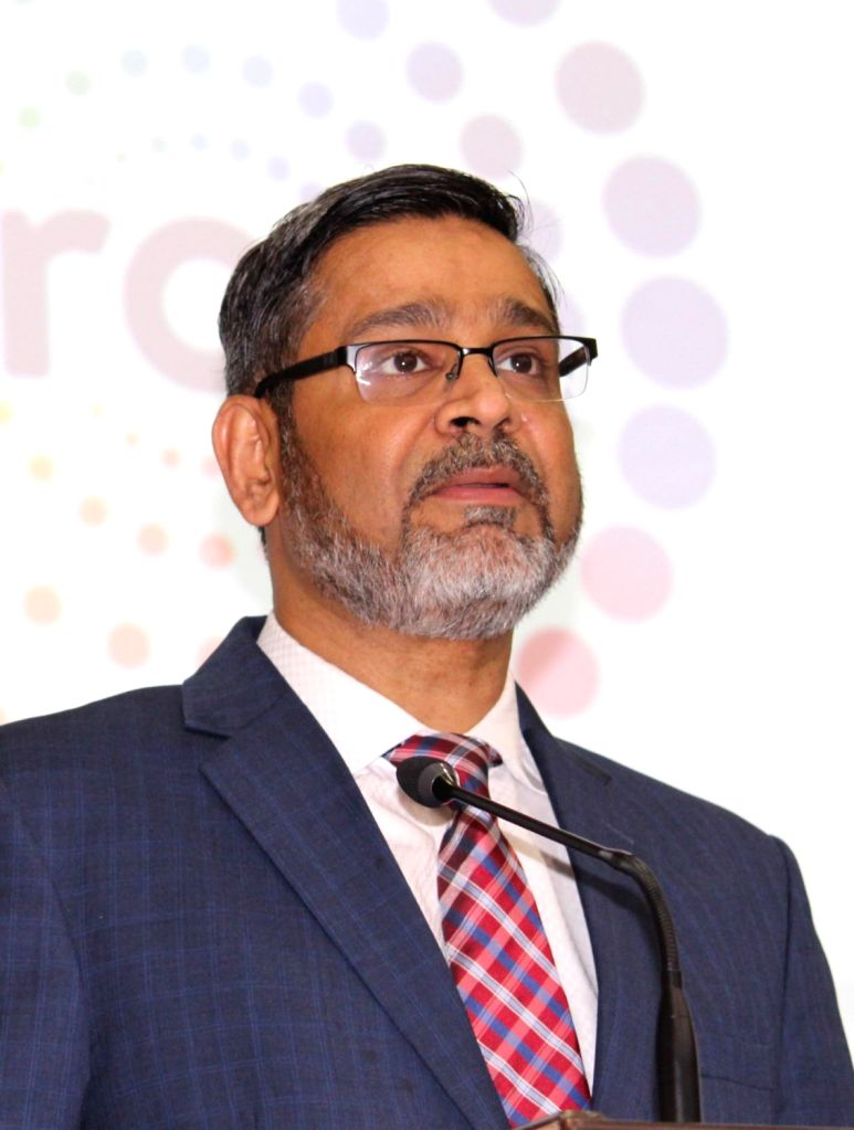 Wipro CEO Abidali Neemuchwala during a press conference where the company announced financial results for the first quarter (Q1) of fiscal 2019-20, in Bengaluru on July 17, 2019.