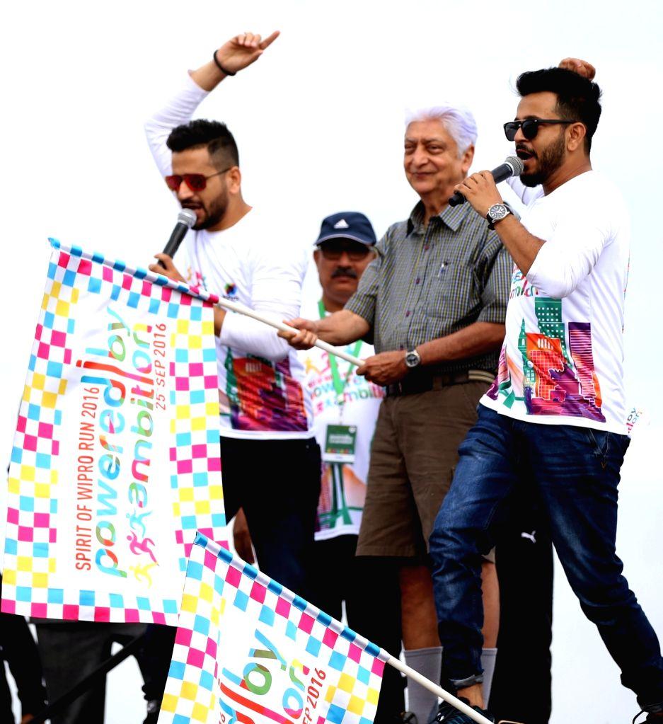Wipro Chairman Azim Premji during inauguration of Spirit of Wipro Run 2016 in Bengaluru, on Sept 25, 2016.