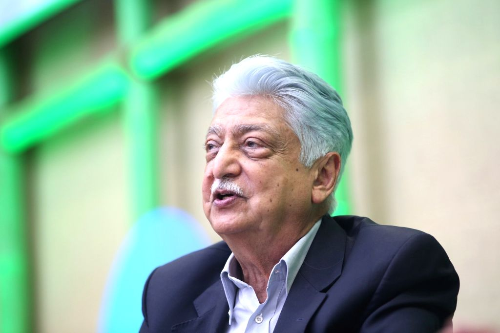 Wipro Limited Chairman Azim Premji addresses at the Wipro earthian Awards 2018 in Bengaluru, on Feb 9, 2019.