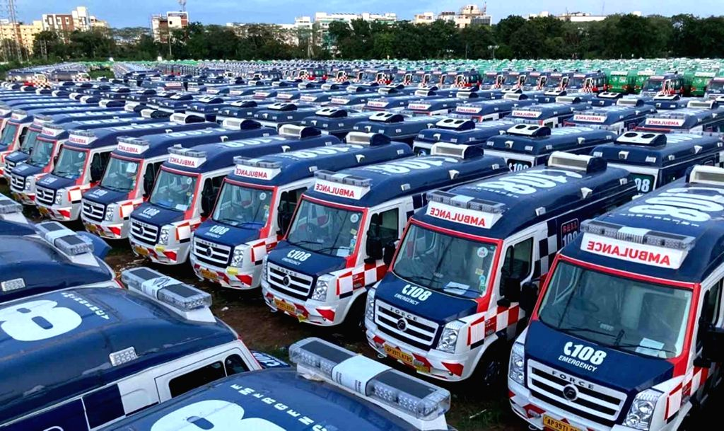 With surging Covid cases, Andhra hires 1,350 ambulances. (File Photo: IANS)