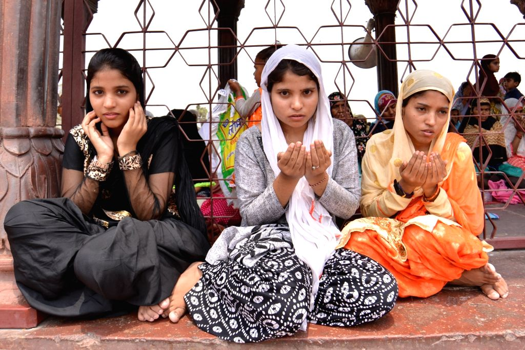 Women offer namaz at Jama Masjid during the holy month of Ramadan, in New Delhi, on June 8, 2017.