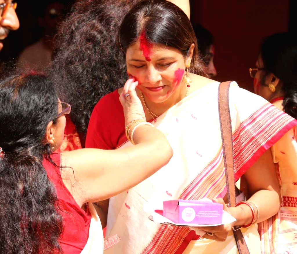 Sindoor Khela -a fun filled event for women on the last day of Durga Puja.