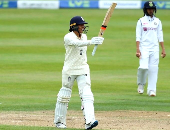 Women's Test: India 63/0 in reply to England's 396/9 decl
