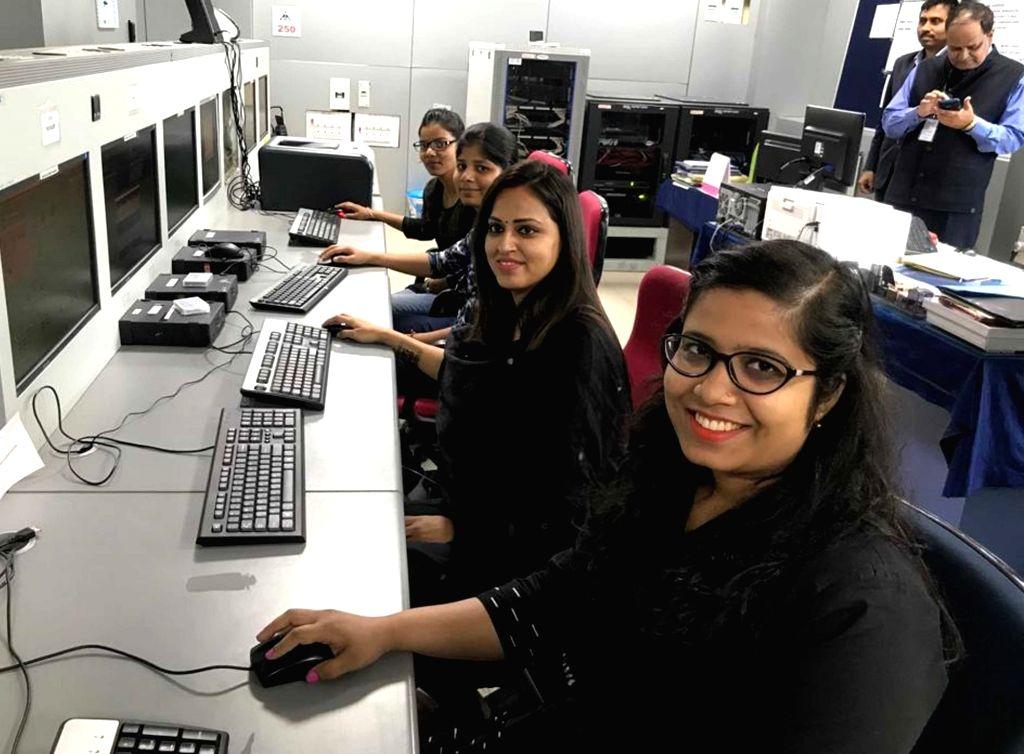 Women workers at Air traffic Contol (ATC) of Jay Prakash Narayan International Airport in Patna on March 8, 2019.