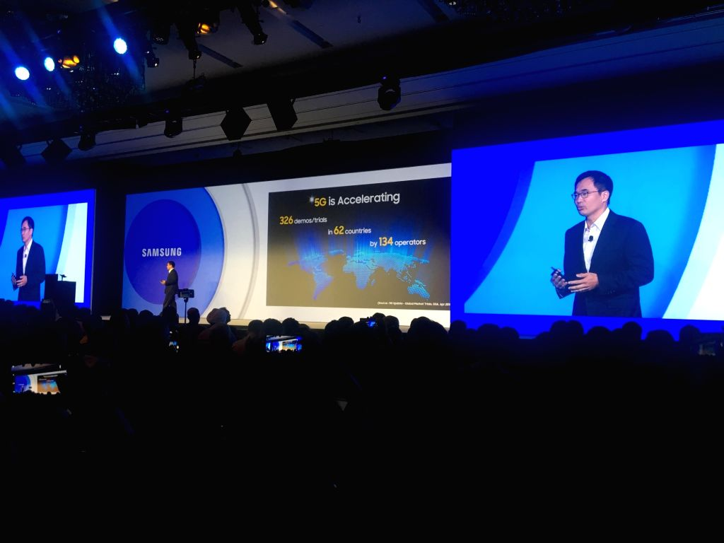 : Woojune Kim, Senior Vice President, Head of Products and Business Strategy, Networks Business Unit at Samsung Electronics at the Qualcomm 4G/5G summit in Hong Kong on October 23..