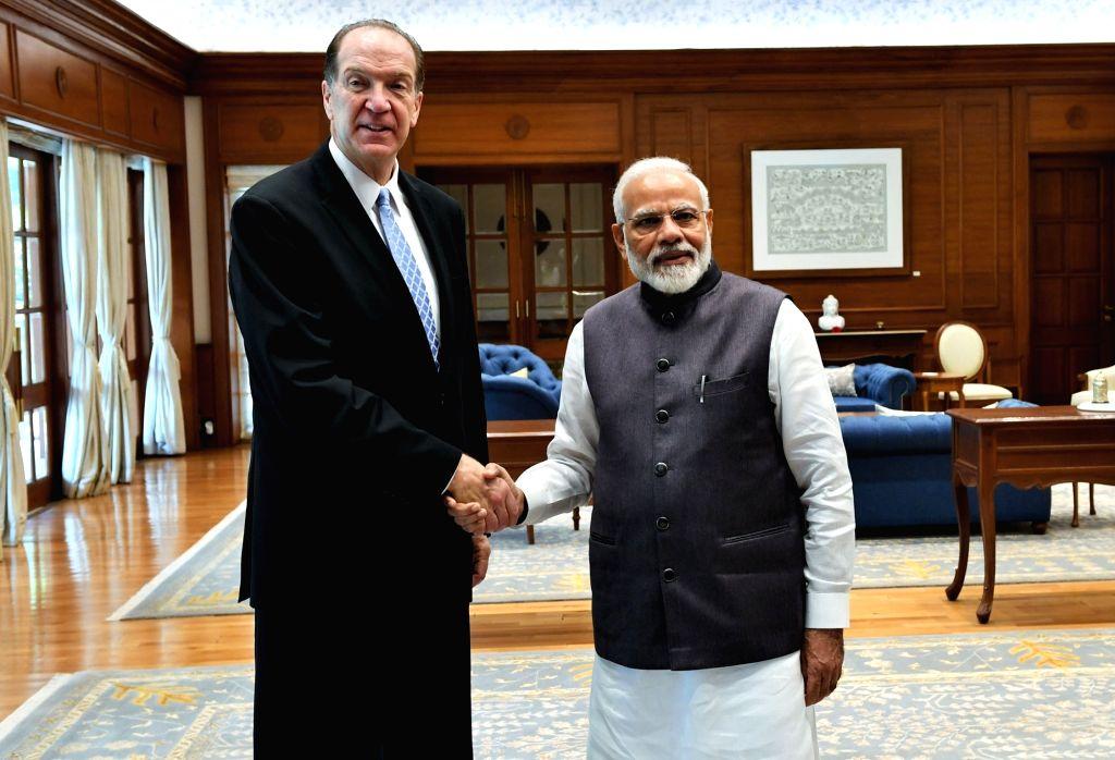 World Bank President David Malpass meets Prime Minister Narendra Modi in New Delhi on Oct 26, 2019. - Narendra Modi