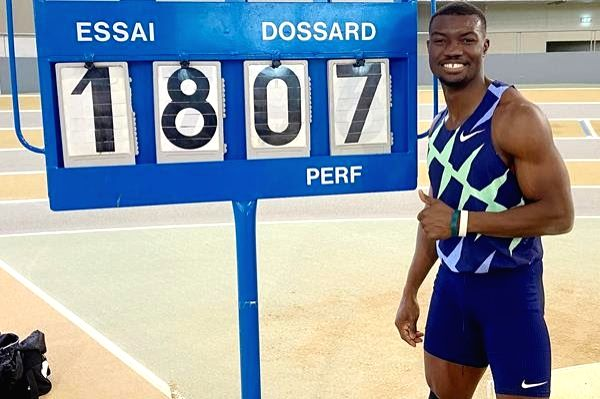World bronze medallist Hugues Fabrice Zango produced the first standout athletics moment of the year by sailing to a world indoor triple jump record of 18.07 metres here on Saturday (16). The record ...