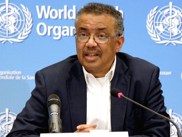 World Health Organization (WHO) Director-General Tedros Adhanom Ghebreyesus speaks at the 73rd World Health Assembly at the WHO headquarters in Geneva, Switzerland, May 18, 2020.