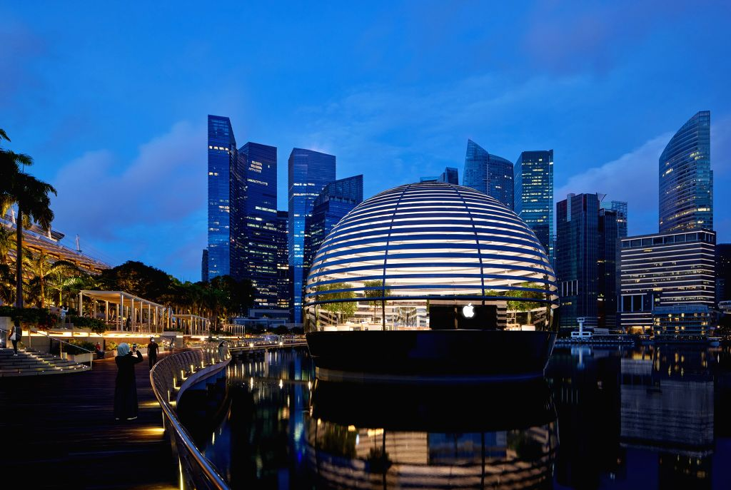 World's first floating Apple store to open Thursday in Singapore.