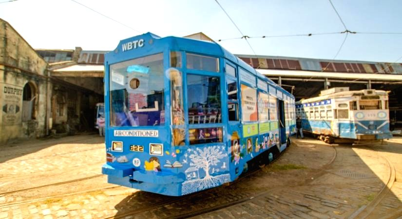 World's first Tramcar for young readers in Kolkata.