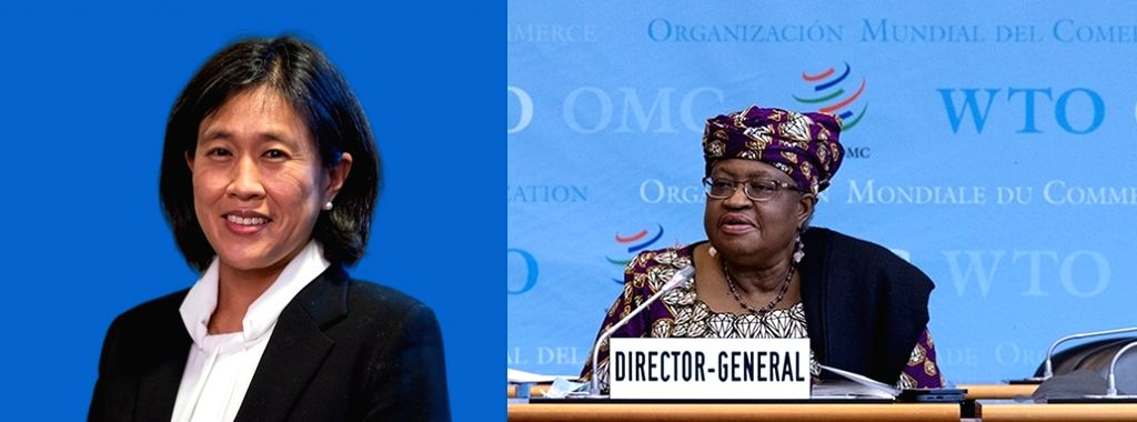 World Trade Organisation Director-General Ngozi Okonjo-Iweala speaks at the start of the organisation's General Council meeting in Geneva on Wednesday, May 5, 2021.