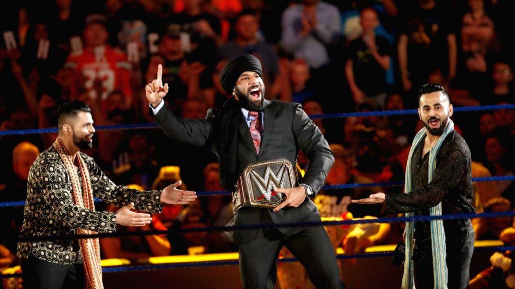 World Wrestling Entertainment (WWE) champion Yuvraj Singh Dhesi popularly known as Jinder Mahal. (File Photo: IANS) - Yuvraj Singh Dhesi