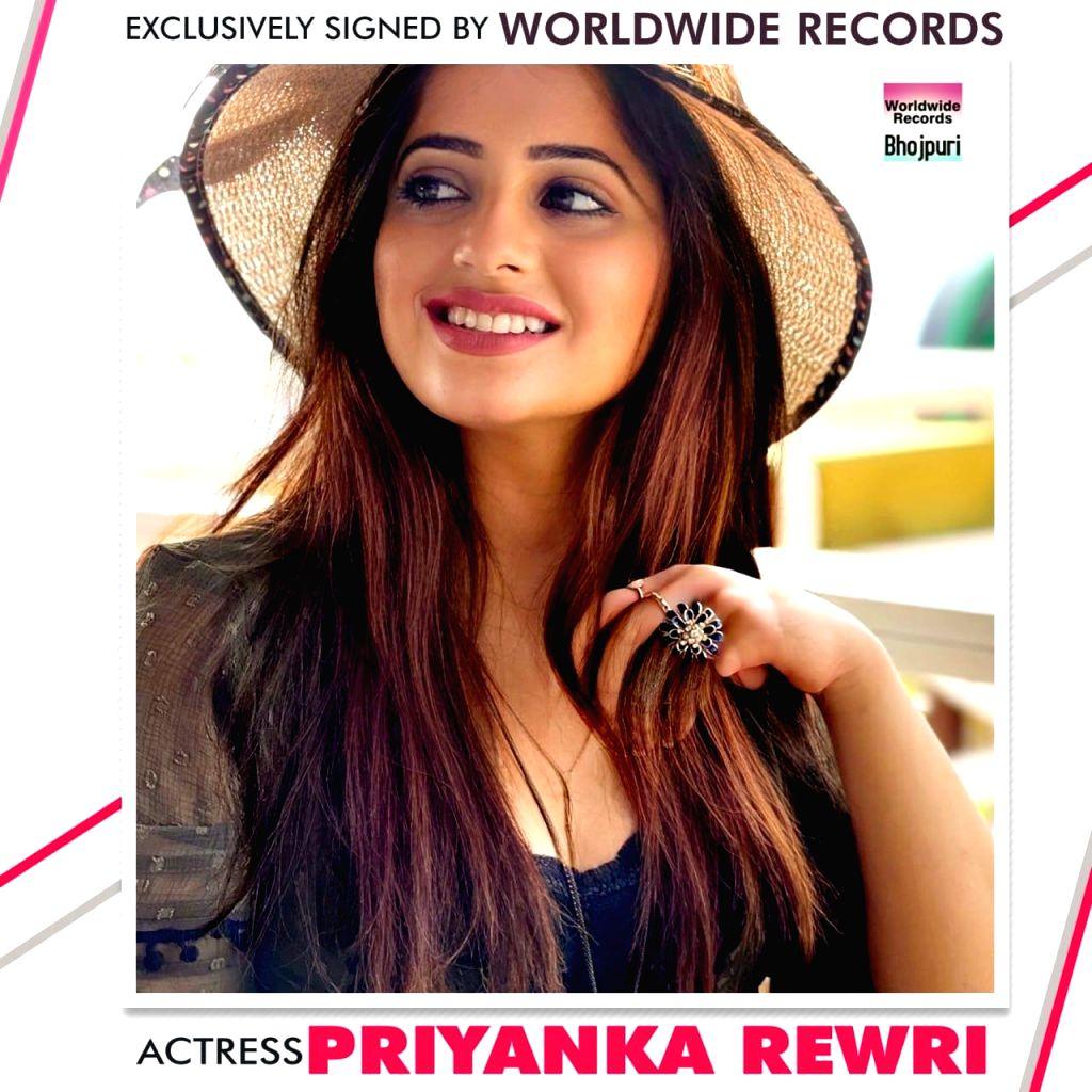 Worldwide Records signs actress Priyanka Rewri. - Priyanka Rewri