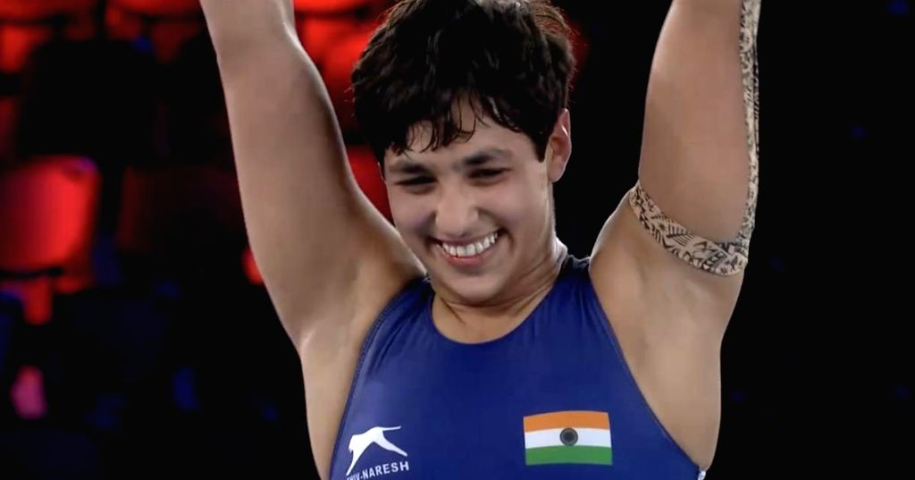 Wrestler Anshu becomes first Indian woman to enter World Championships final (Photo credit Twitter)