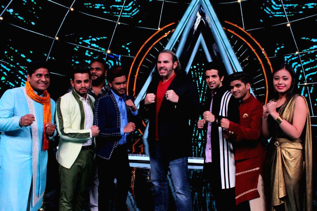 "Wrestler Matt Hardy on the sets of ""Indian Idol 10"" on Dec 5, 2018."