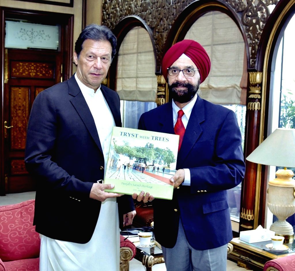 Writer and former Punjab civil servant D.S. Jaspal calls on Pakistan Prime Minister Imran Khan who hailed his proposal for participation of devotees in sapling plantation in the historic ... - Imran Khan
