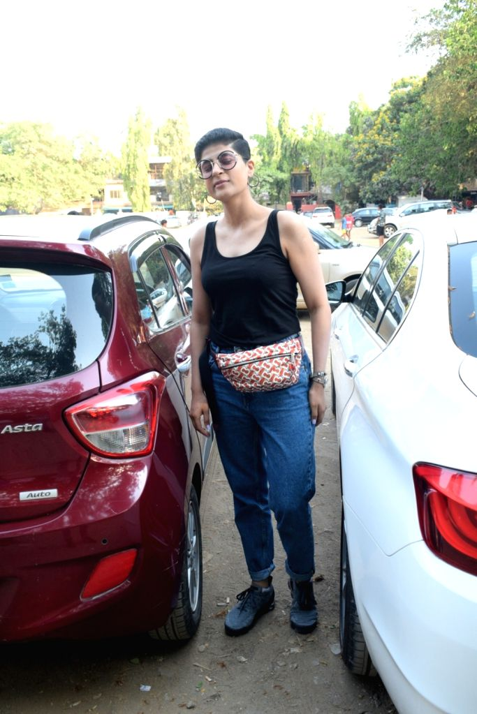 Writer Tahira Kashyap, wife of actor Ayushmann Khurrana seen at Mumbai's Andheri, on April 24, 2019. - Ayushmann Khurrana and Tahira Kashyap