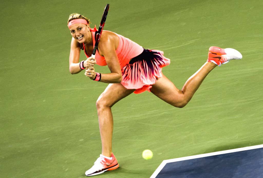 WUHAN, Sept. 30, 2016 - Petra Kvitova of the Czech Republic returns the ball during the women's singles semifinal against Romania's Simona Halep at 2016 WTA Wuhan Open tennis tournament in Wuhan, ...