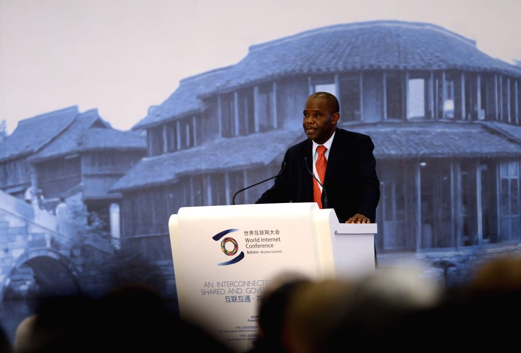 Wuzhen (China): Tanzanian Minister of Communication, Science and Technology Makame Mbarawa speaks at the opening ceremony of the 2014 World Internet Conference in Wuzhen, east China's Zhejiang ...