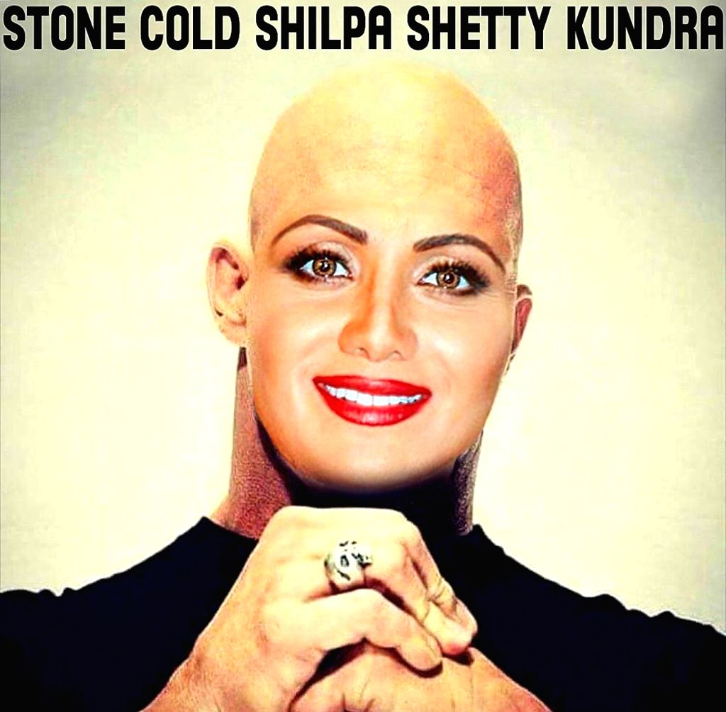 WWE champion John Cena on Friday uploaded a photograph where Shilpa's face had been morphed onto the body of WWE superstar Stone Cold. (Photo: Instagram/johncena)