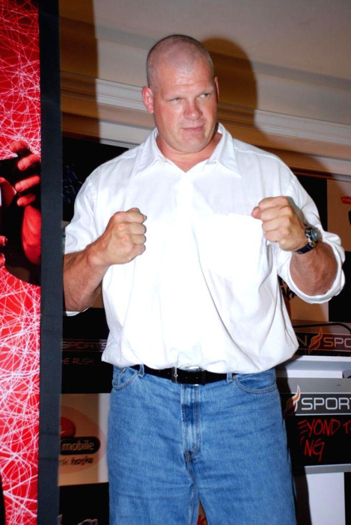 WWE superstar Kane visits Mumbai.