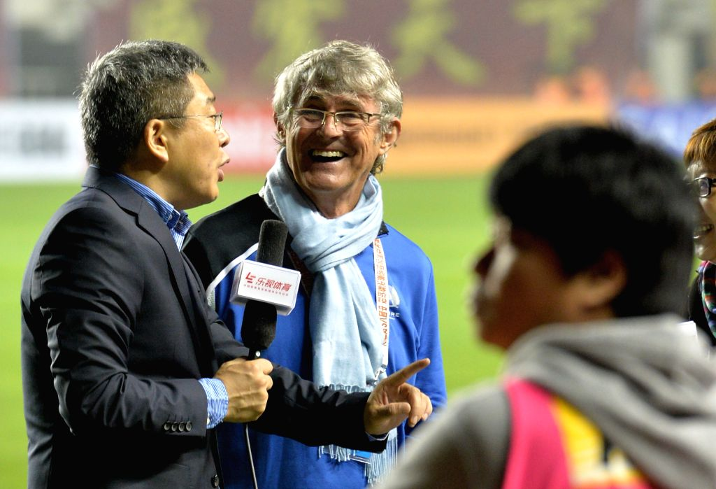 XI'Former coach of team China Bora Milutinovic (2nd L) is seen prior to a match between China and Syria of 2018 FIFA World Cup Russia Qualifiers in Xi'an, capital of ...