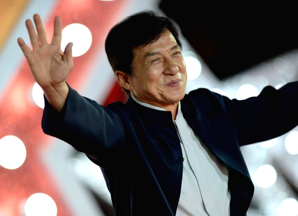 XI'Jackie Chan attends the closing ceremony of the 3rd Xi'an Silk Road International Film Festival in Xi'an, northwest China's Shaanxi Province, Sept. 23, 2016.