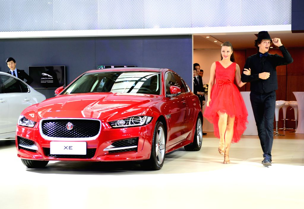 XI'Photo taken on July 6, 2016 shows the displayed Jaguar XE car at the 7th International Auto Exhibition 2016 in Xi'an, capital of northwest China's Shaanxi Province. ...